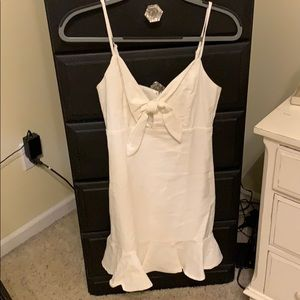 White babydoll dress. Linen cloth material.